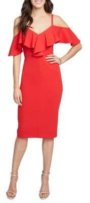 Rachel Roy Marcella Ruffle Knee-Length Dress
