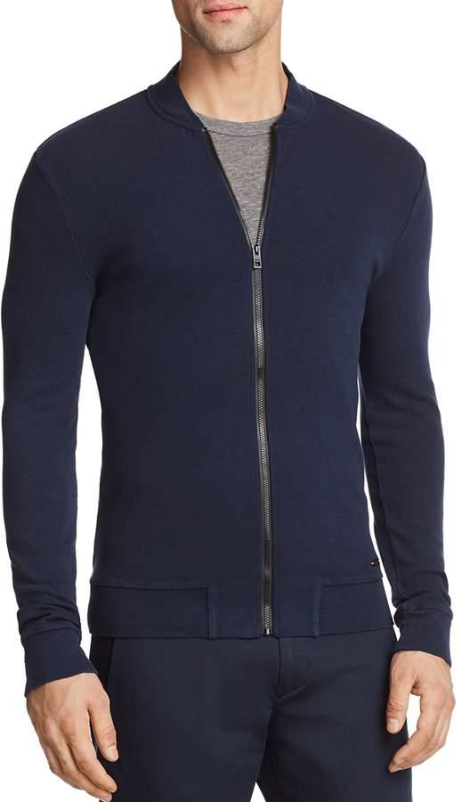 Zalter Lightweight Waffle Zip-Up Sweatshirt