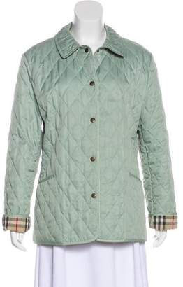 Burberry Quilted Collared Jacket