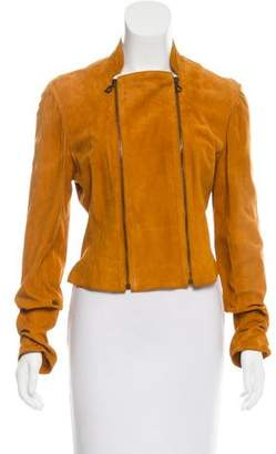 Christian Dior Suede Zip-Up Jacket