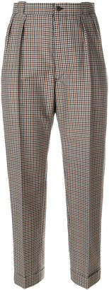 Maison Margiela check cropped tailored trousers
