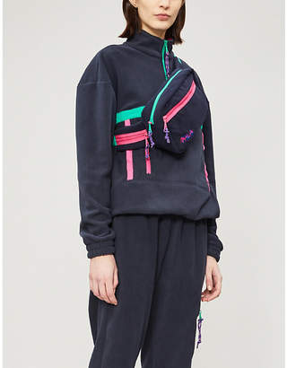 Fila Contrast-trims fleece jacket