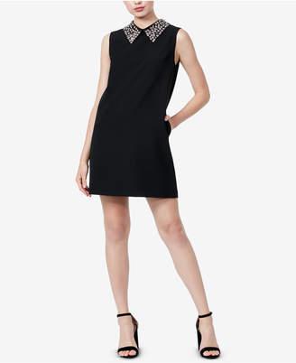 Betsey Johnson Embellished-Collar Shift Dress