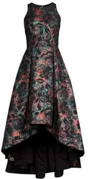 Aidan Mattox Sleeveless Floral High-Low Dress