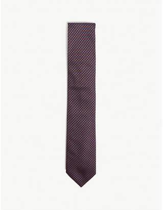 Corneliani Mini chevron silk tie