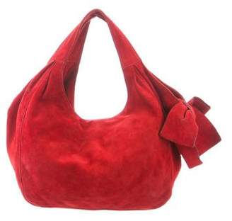 Valentino Suede Bow-Accented Hobo