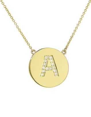 Jennifer Meyer Diamond Letter Pendant Necklace - Yellow Gold