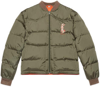Gucci Nylon jacket with rabbit