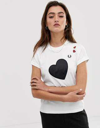 Fred Perry x Amy Winehouse foundation heart detail t-shirt