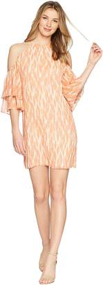 Miss Me Halter Open Shoulder Ruffle Dress Women's Dress