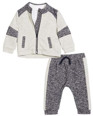 Miniclasix Contrasting 3-Piece Layette Outfit Set, Size 3-24 Months