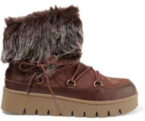 Australia Luxe Collective Casper Shearling And Leather Ankle Boots