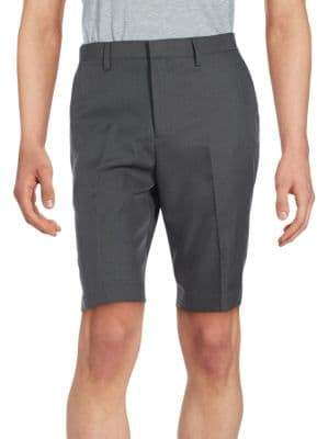 Saks Fifth Avenue Solid Woven Flat Front Shorts