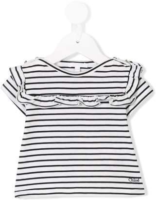 Chloé Kids striped T-shirt