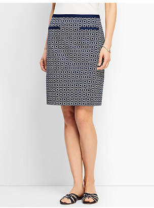 Talbots Batik Diamond A-Line Skirt