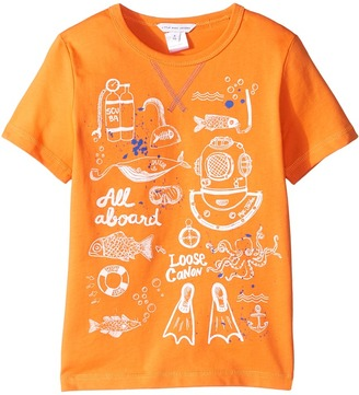 Little Marc Jacobs - Sea Animation Or Boat Print Short Sleeve Tee Shirt Boy's T Shirt $66 thestylecure.com