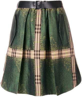 Alberta Ferretti (アルベルタ フェレッティ) - Alberta Ferretti check detail skirt