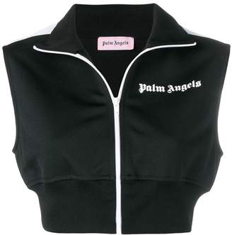 Palm Angels cropped zipped sweatshirt