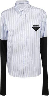Prada Jersey Sleeve Shirt