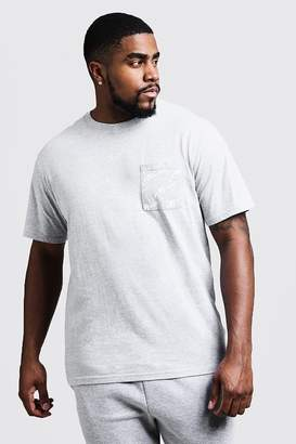 boohoo Big And Tall Crew Neck T-Shirt With MAN Print