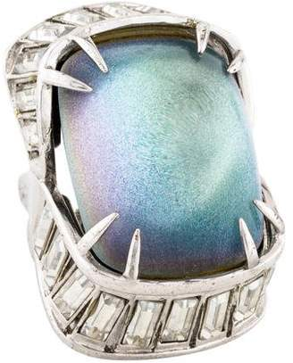 Alexis Bittar Deco Lucite & Baguette Crystal Ring