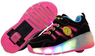 Heelys Believed Junior Girls Boys Wheely LED Light Shoes Roller Skate Shoes Sneakers With Wheels