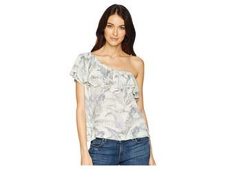 Lucky Brand Tropical One Shoulder Top
