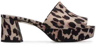 Ganni brown Leonie 60 platform sandals