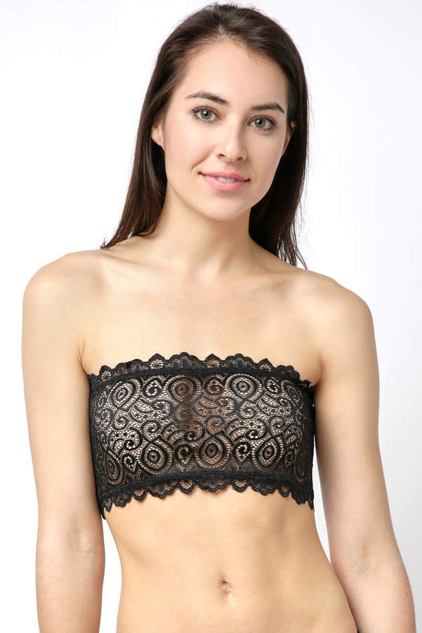 Reversible Seamless And Lace Bandeau