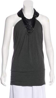 Robert Rodriguez Embellished Halter Top