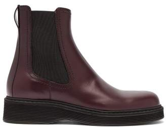Marni Leather Chelsea Boots - Mens - Burgundy