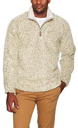 True Grit Men's Frosty Tipped Pile 1/4 Zip Pullover Outerwear,XS