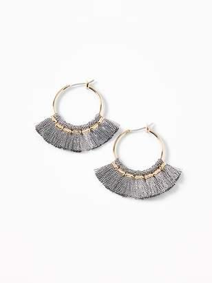 Old Navy Tassel-Hoop Earrings for Women