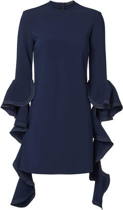 Ellery Kilkenny Frill Sleeve Navy Dress