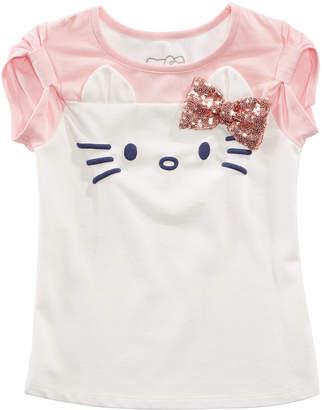 Hello Kitty Little Girls Sequin Bow T-Shirt