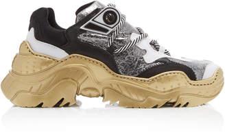 N°21 N 21 Billy Metallic Leather Sneakers