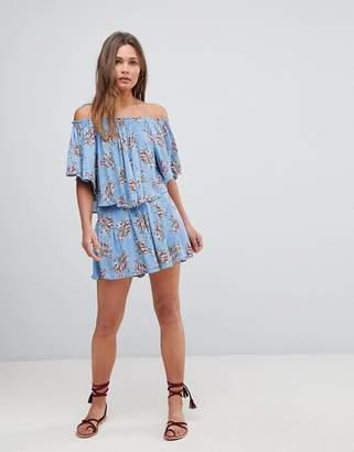 En Creme En Crme Floral Shorts With Back Waist Elastic