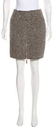 Acne Studios Fury Trash Wool-Blend Skirt