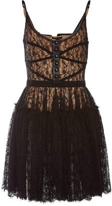 Alexander Wang Bodice Dress with Lace and Leather