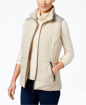 Style & Co. Mixed-Media Puffer Vest, Only at Macy's $69.50 thestylecure.com