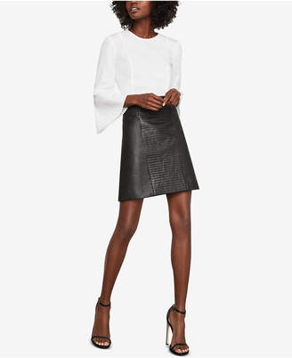 BCBGMAXAZRIA Faux-Leather Quilted Mini Skirt