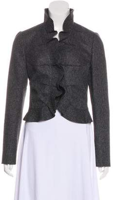 Valentino Ruffle-Accented Wool Jacket