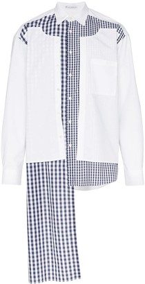 J.W.Anderson deconstructed gingham panel shirt