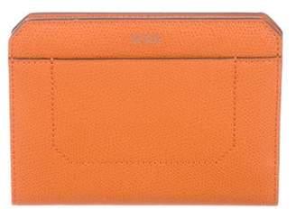Tumi Pebbled Leather Wallet Orange Pebbled Leather Wallet