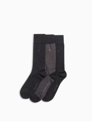 Calvin Klein 3 pack birdseye dress socks
