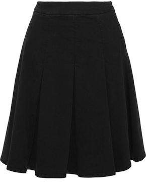 Love Moschino Pleated Cotton-Blend Twill Mini Skirt