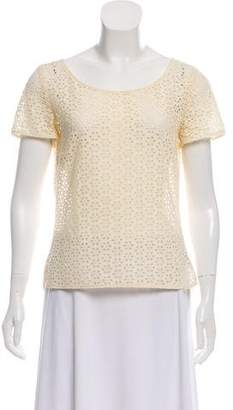 Cacharel Eyelet Short Sleeve Top