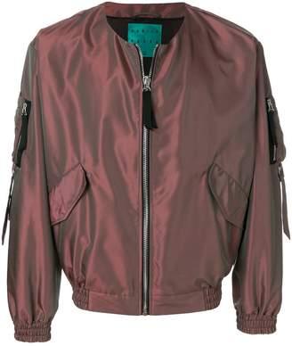 Paura metallic bomber jacket