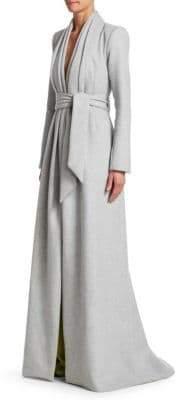 Brandon Maxwell Belted Wool Coat