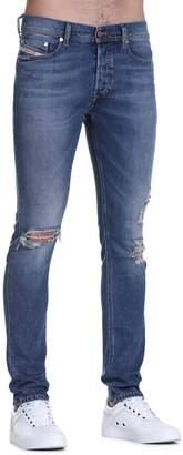 Diesel Tepphar Distressed Slim-Fit Jeans